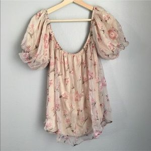 NWT Nasty Gal Floral Blouse